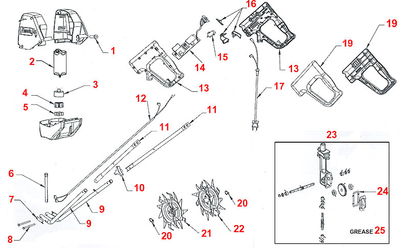Mantis Parts Diagram Mantis Tiller Parts Diagram